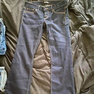 Express mid rise jeans dark wash size 2